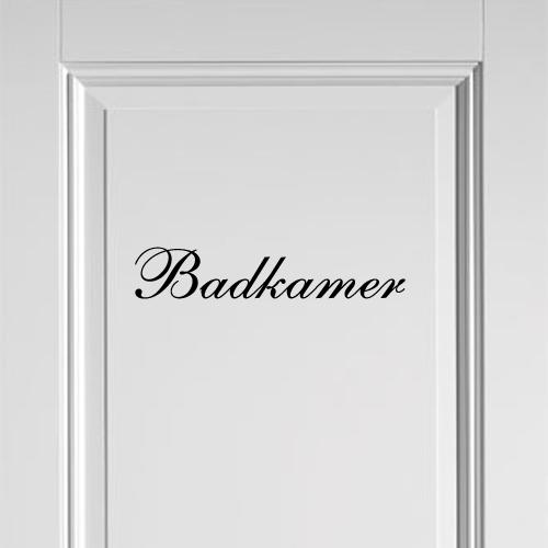 Deursticker Badkamer (sierletter) bestellen | Stickers en Plakletters