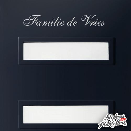 Sticker Teksten Bestellen.Deur Sticker Familienaam Familie Sierletter Bestellen Stickers