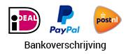 Betalen kan met Paypal, iDEAL of bankoverschrijving. Verzenden doen we met PostNL.
