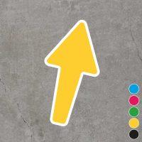 Gele anti slip vloersticker van een pijl